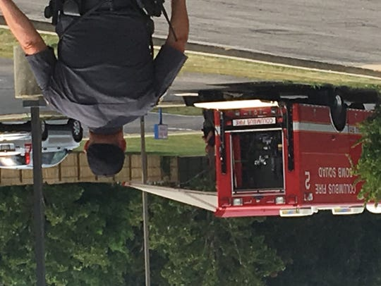The Columbus Bomb Squad responded to aMarion bank
