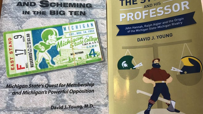 """Dr. David J. Young's new book, """"The Student and his Professor,"""" adds a second chapter to his work on the history of the Michigan State-Michigan rivalry. His first book, """"Arrogance and Scheming in the Big Ten,"""" was released in 2011."""