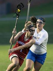 Rachel Marshner, left, had  five goals on Wednesday