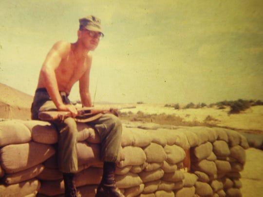 Harold Redding serving near Chu Lai, Vietnam, circa