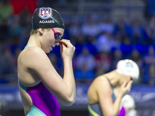 Carmel's Claire Adams is a swimmer to watch for the