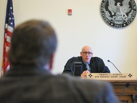 "Sixth District Judge Timothy L. Aldrich said, ""I'm"