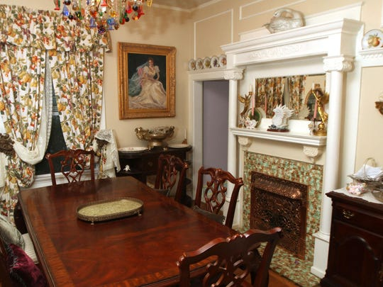 The dining room inside Leslie Ferrier and James McGlynn's 7th Avenue home in Asbury Park.