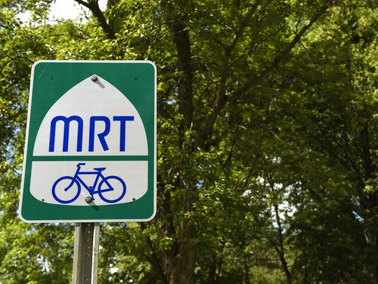 The Mississippi River Trail runs from Itasca State Park to the Gulf of Mexico and passes through St. Cloud.