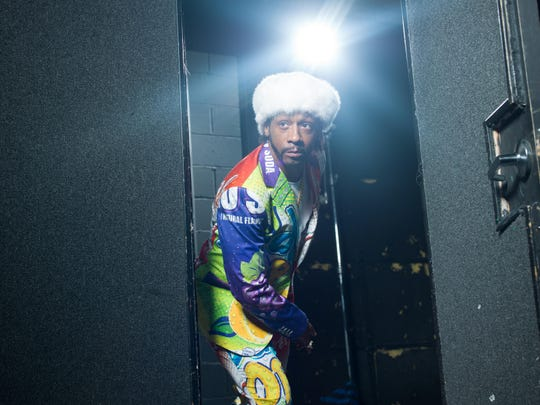 Stand-up comedian Katt Williams performs at the Mississippi Coliseum Saturday night.