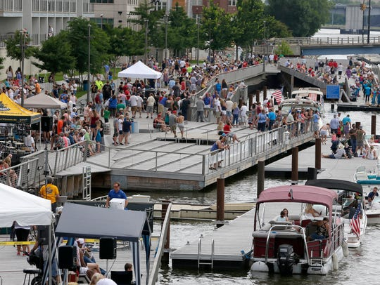 CityDeck along the Fox River was jammed during the