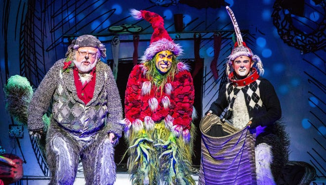 The cast of Dr. Seuss's How the Grinch Stole Christmas! The Musical.