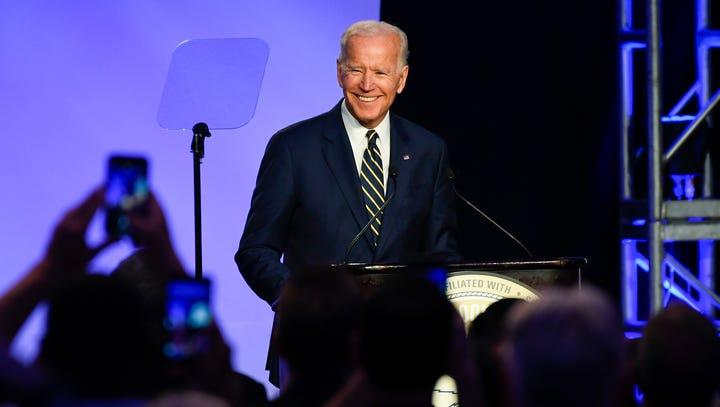 Former Vice President Joe Biden delivers remarks at