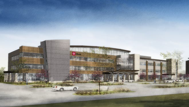 Artist rendering of UCHealth Greeley Hospital, expected to be complete by late 2018.