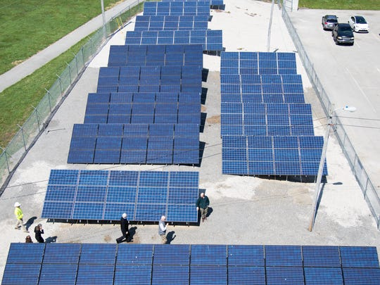 A community solar array in Berea, Ky.