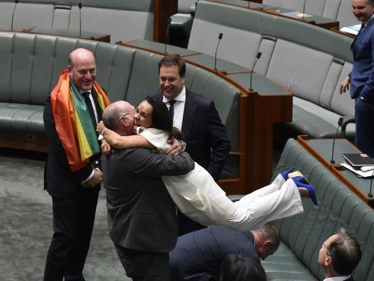 *** BESTPIX *** Australian Parliament Legalises Gay Marriage