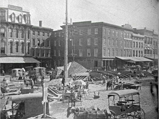 Looking toward the northeast corner of York's square on June 30, 1887.