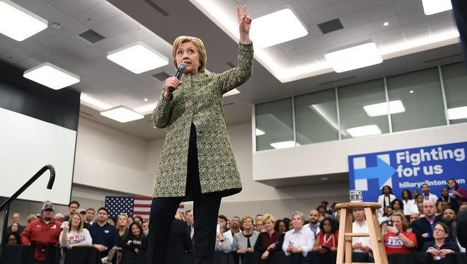 Democratic presidential candidate and former Secretary of State Hillary Clinton made a campaign stop at Meharry Medical College on Sunday in Nashville.