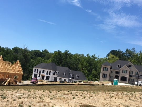 Homes under construction at Grandin View in Hyde Park