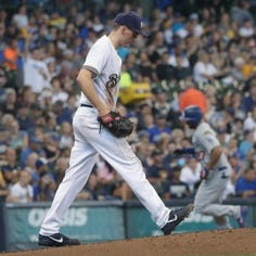 Dodgers 11, Brewers 2: After one-day reprieve, Brewers encounter more injuries, bad play