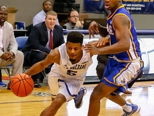 Christavious Gill leads the University of New Orleans in scoring with 13.5 points per game.