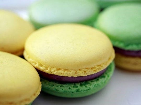 Sucre of New Orleans offers king cake Mardi Gras macaroons