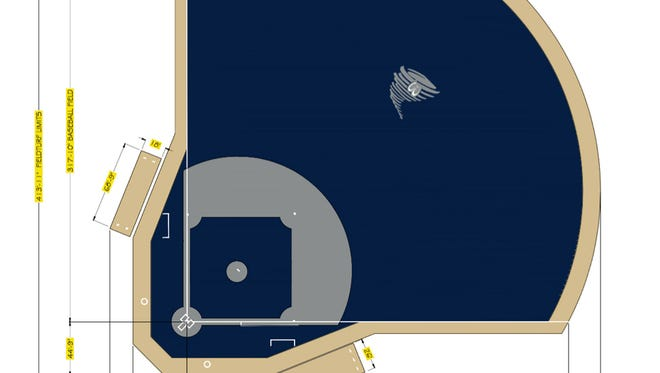 Centenary plans to build a blue turf baseball field.