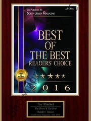 "Toy Market has been voted ""Best Toy Shop in South Jersey"" by South Jersey Magazine."