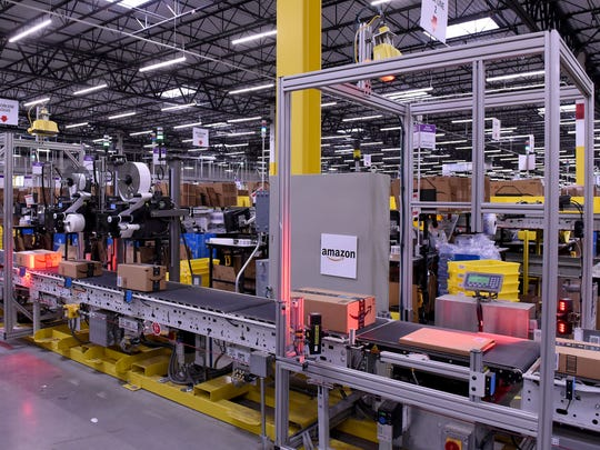 The Amazon Fulfillment Center in Etna Township employs 4,000 people and is now the county's largest employer.