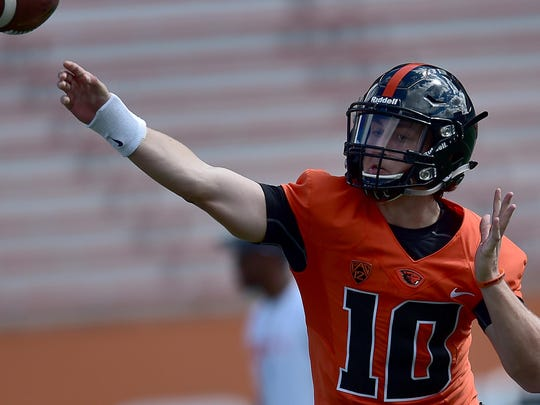 After redshirting in 2015, Darell Garretson is the frontrunner to be Oregon State's starting quarterback next season.