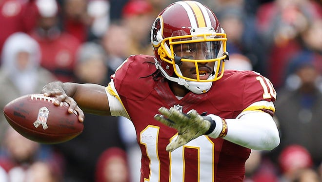 Redskins QB Robert Griffin III has lost 75% of his starts over the past two seasons.