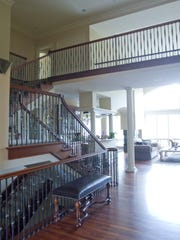 The foyer of the Arbor Bay Drive house, shown Thursday,