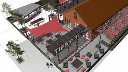 The new Tipsy Crow Tavern will feature a large outdoor patio with a stage for live music.