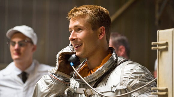 "Glen Powell as astronaut John Glenn in ""Hidden Figures."""