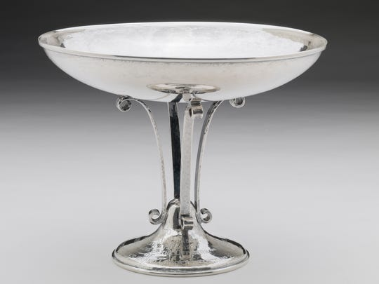 """Compote,"" 1937, Kenton C. Kunkle (1861–1941), silver, Museum Purchase: John S. Conner Fund."