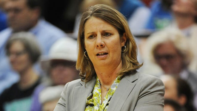 Cheryl Reeve coaches a  Minnesota Lynx game in 2013. The Washington Township coach will be an assistant with the Olympic women's basketball team.