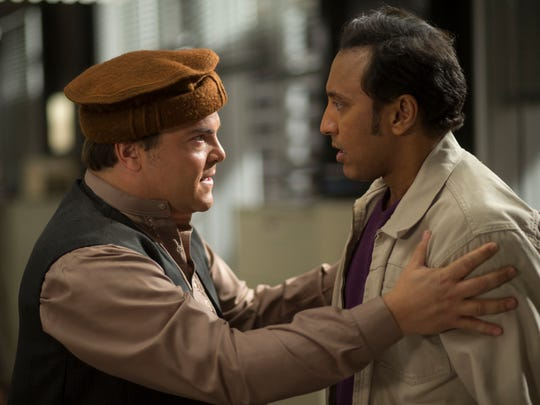 Jack Black, left, and Aasif Mandvi in HBO's 'The Brink.'