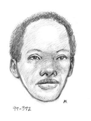 Police sketch of a woman found dead inside a burning car in Phoenix in 1997. Police are looking for information on her identity.