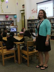 Natasha May, Lumberton Elementary third grade teacher, says the relationships with her principal and other teachers have kept her on the job for three years.