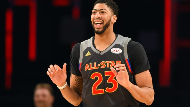 Western Conference forward Anthony Davis of the New Orleans Pelicans (23) was named All Star Game MVP.