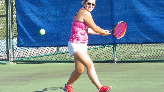 Senior Sydney Elliott will play first singles for the Bexley girls tennis team after earning second-team all-league honors last season. The Lions defeated Delaware 4-1 in their season opener Aug. 12.