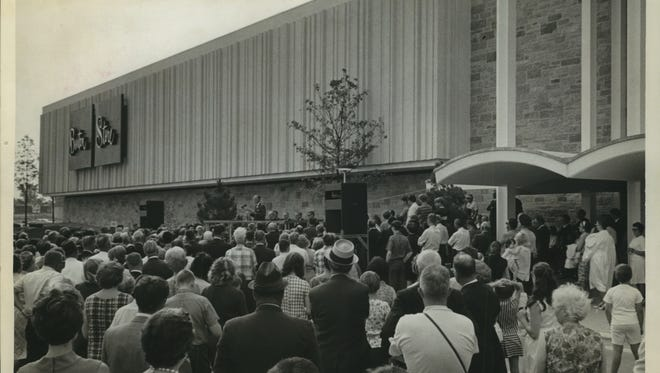 From 1967: NEW STORE-Formal opening ceremonies for the new Boston Store at Brookfield Square Shopping Center attracted this crowd.