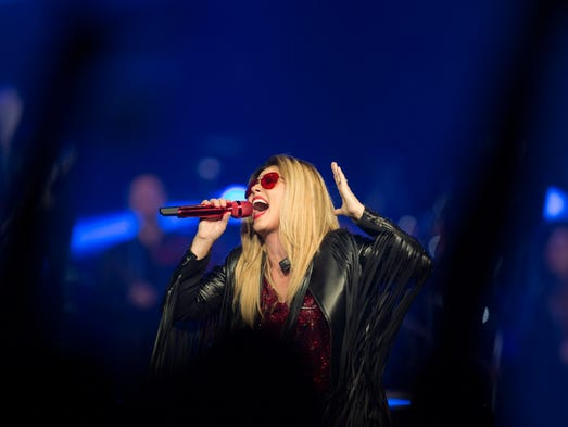 Shania Twain performs at her Rock This Country Tour