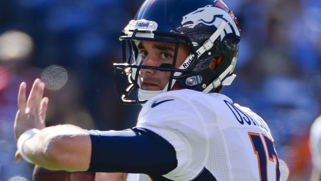 Backup QB Brock Osweiler could theoretically leave Denver without ever starting a game.