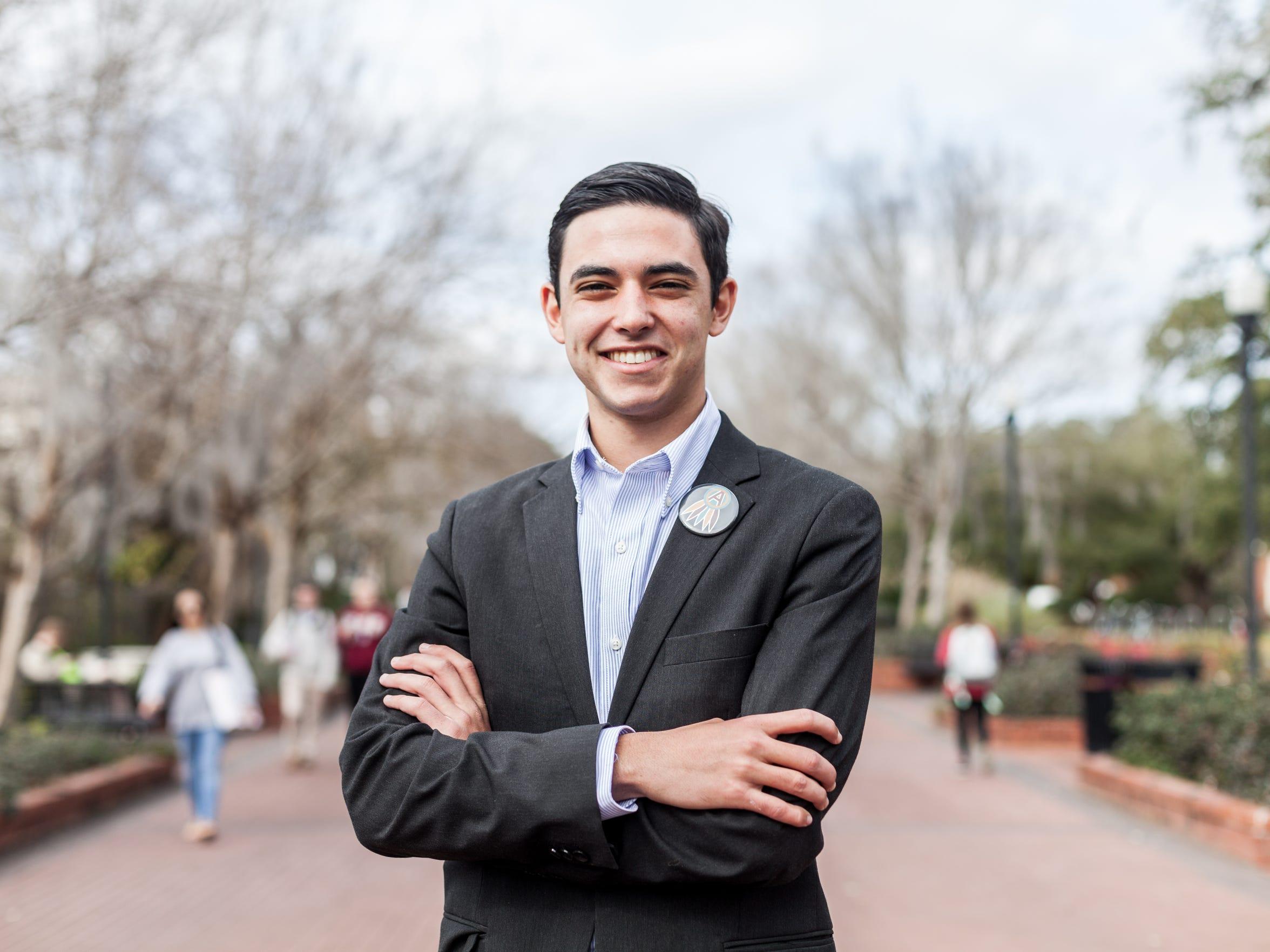 FSU Student Body President Nathan Molina