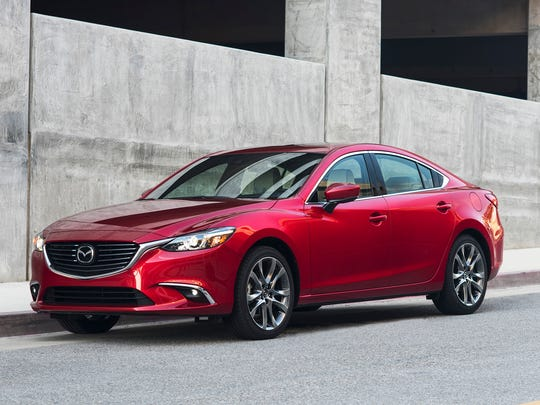 All Mazda vehicles sold in the U.S., including the 2017 Mazda 6 shown here, are made in foreign markets.