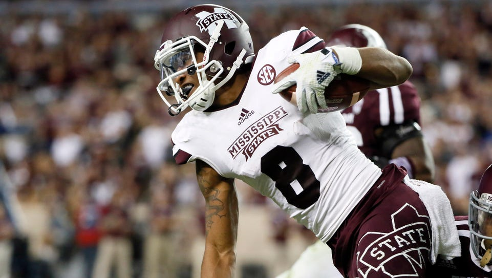 Mississippi State wide receiver Fred Ross has a good