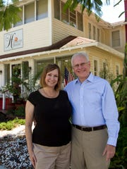 Pam and David McCurrach bought the Hibiscus House Bed & Breakfast in 2012, and did a major renovation to the property. They have five rooms, each individually designed by Pam.
