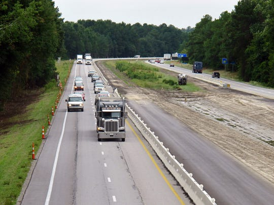 Traffic moves along a section of Interstate 26 that