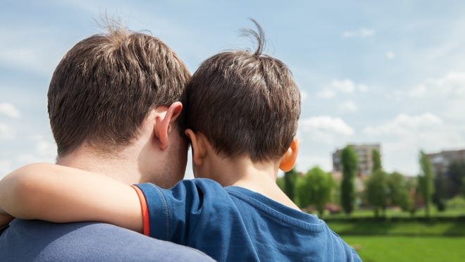 Father and son on a city background. View from the backespite the growth in sheer numbers of cohabiting households, they are still less stable for the kids growing up in them than married households, says Gretchen Livingston, a senior researcher for Pew who wrote the report.