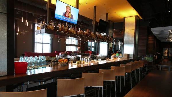 The bar area at the 8UP restaurant. Apr. 16, 2015