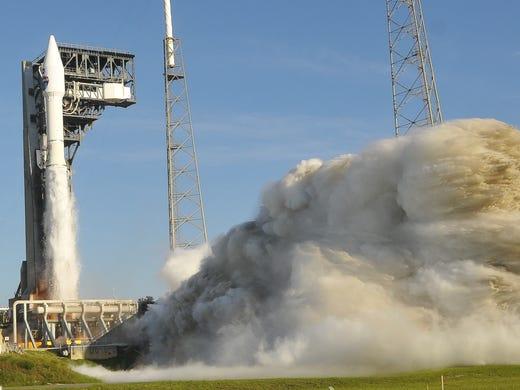 United Launch Alliance Atlas V-Rocket takes off
