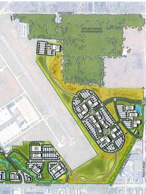 Metro Airport in Fishers development plan for land usage.