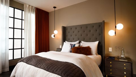 How a West Elm hotel room could look