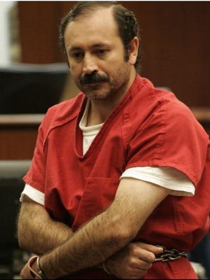Juan Carlos Alcala enters the courtroom on April 12, 2011 at the Larson Justice Center in Indio. Alcala was sentenced to life in prison on Friday for killing a man and his daughter over a minor dispute.